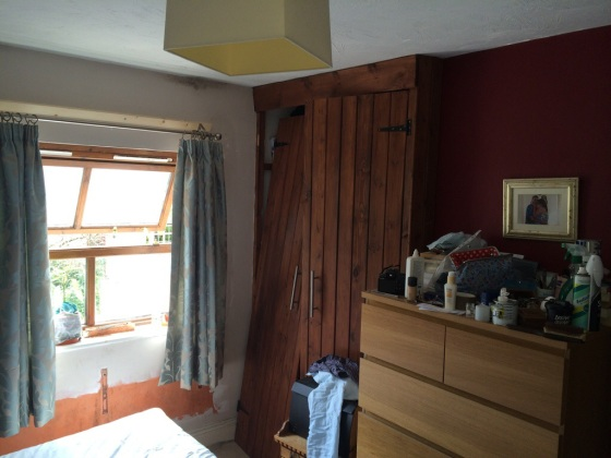 Ugly wardrobes, patchy plaster work and Ikea furniture.