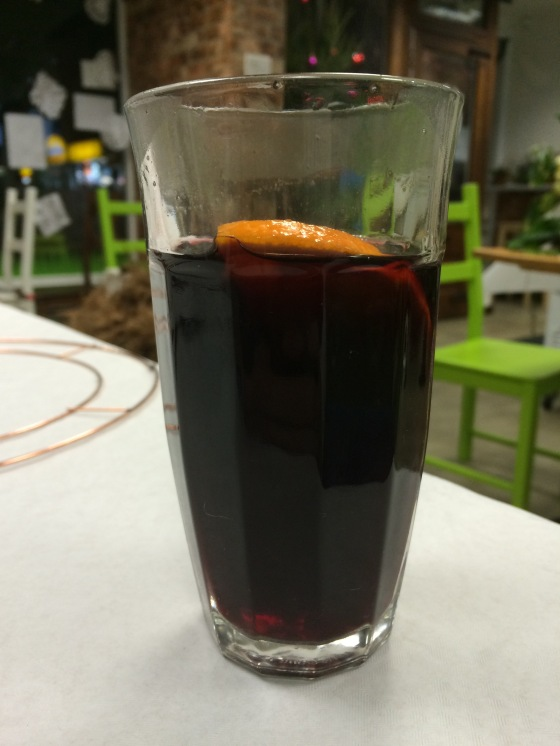 The biggest mulled wine I've ever had. And so nice I had two!
